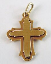 100%  Genuine Vintage 9ct Solid Yellow Gold 3D Crucifix Cross Pendant