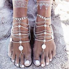Super Tendance Sexy Argent Bracelet De Cheville Chaîne Pied Bijoux Nus Sandale