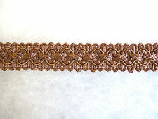 Taupe light brown chair braid trimming fabric upholstery trim SOLD PER MT