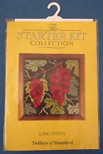 TWILLEYS STAMFORD LONG STITCH TAPESTRY EMBROIDERY GRAPES VINE PICTURE KIT UNUSED