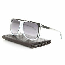 Gucci 3705S Sunglasses 9UFLF Blue Black Crystal Frame / Grey Gradient Lens