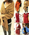 New Women Wool Blend Long Warm Scarves Soft Wrap Scarf Tassels Winter Warm Shawl