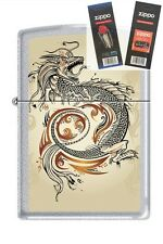 Zippo 2916 dragon tattoo Lighter with *FLINT & WICK GIFT SET*