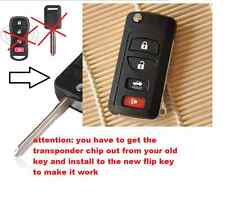 4 BUTTON REMOTE FLIP KEY CASE fob SHELL FOR Nissan Tiida Maxima