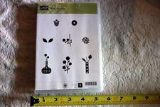 "STAMPIN' UP! ""Bright Blossoms"" Clear Mount rubber stamp Set of 8 NEW"