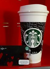 Starbucks Discontinued Reusable NIGHT SKY  Travel Cup w Lid and Collector Card