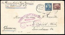 #571 ON ZEPPELIN FLIGHT COVER USA TO GERMANY OCT 28,1928 BT5828