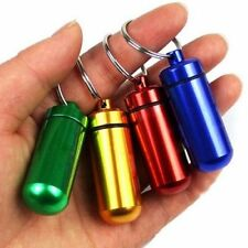 Portable Small Aluminum Waterproof Pill Bottle Cache Drug Container Keychain