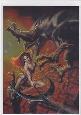 1996 Boris with Julie #P1 Woman Fighting Monster Promo * Comic Images *