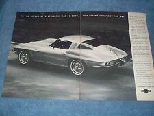 "1964 Corvette Sting Ray Coupe 2pg Vintage Ad ""...Why Did We Change it For '64?"""
