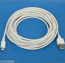 5M 16ft LONG Fast Charger Quick Charging ONLY USB Cable WHITE 4 iPhone 6s 6 Plus