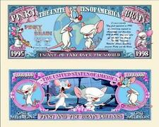 PINKY & the BRAIN . Million Dollar USA . Billet de commémoration / Collection