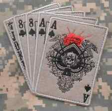 DEAD MANS HAND ACES & 8'S NAVY SEALS SPECIAL WARFARE OPERATOR ACU VELCRO® PATCH