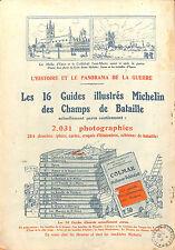 MICHELIN BIBENDUM GUIDES ILLUSTRES COLMAR GUERRE 14/18 PUBLICITE 1920