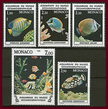 MONACO 1985  N°1483/1487** POISSON Fish National Oceanographic Aquarium MNH