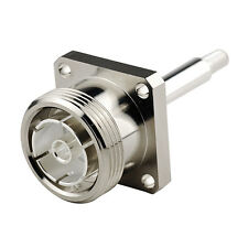 RF Coaxial 7/16 Din Female 4 Hole Panel Mount With Long Extended Pin Connector