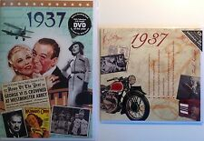 1937 80th Birthday Gifts Set - 1937 DVD , Pop CD and Card - CD Card Company