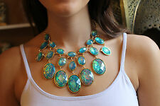 Kenneth Jay Lane Iridescent Bib Necklace - GORGEOUS!!