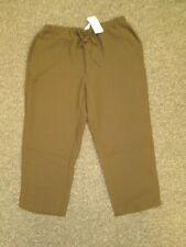 Silhouettes Women's Petite Extra Large pants Camel Light Brown Java Dark Brown