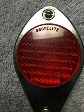 NOS WALD / GROTELITE CHROME BICYCLE REAR FENDER MOUNT REFLECTOR, SCHWINN & OTHER