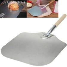 Aluminum Pizza Peel Paddle 14 x 16in Kitchen Supply with Wood Handle Made in USA