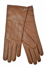 [83 04] COACH NWT WOMENS 83875 TOBACCO BROWN GENUINE LEATHER CASHMERE GLOVES 7.5