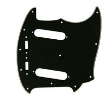 Black 3-ply Pickguard for Fender Japan MIJ Reissue Mustang® Guitar PG-0581-IMPB