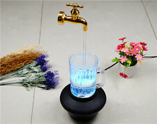 LED Magic Faucet Mug Color Water Floating Fountain Faucet tap Light EU Plug New