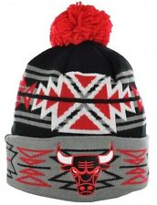 Chicago Bulls Mitchell & Ness NBA Geotech Cuffed Beanie Knit Skully Pom Cap Hat