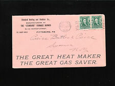 Standard Heating Radiator Mfg Furnace Burner SLOGAN Pittsburg 1904 PA Cover ¤