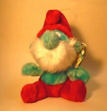 "Vintage 7"" Papa Smurf Bean Bag Plush with Tag"