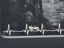 JEEP WRANGLER HeartBeat EKG CHOOSE Your Color window body STICKER Decal  JK TJ