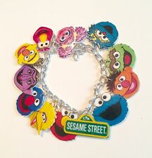 Sesame Street Handmade Bracelet Plastic Charms Elmo Big Bird Cookie Monster Bert