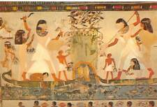 Egypt Thebes Tomb of Noble Menna at fishing party
