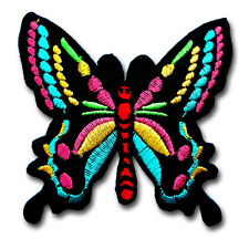 Butterfly Patch Embroidered Iron on Sew Kid Biker Retro Badge Hippie Tattoo MC