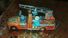 VINTAGE TIN TOY FIRE ENGINE