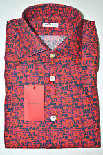 NEW 2016 KITON SHIRT 100% COTTON 17 US 43 EU 568702