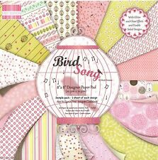 DOVECRAFT BIRD SONG FIRST EDITION PREMIUM PAPER 8 X 8 SAMPLE PACK  16 SHEETS