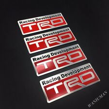 4x TRD Racing Sport Emblems Badge Decal Sticker For Toyota Corolla Yaris 4Runner