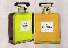 PUBLICITE ADVERTISING 124 1977 CHANEL N°5 CHANEL N°19  (2 pages)