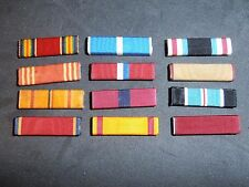 Lot of 12 different US Military Ribbons- American Defense Service, United Nation