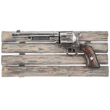 WESTERN HOME DECOR  RUSTIC PISTOL on WOODEN FRAME (Farm House Ranch Home Decor)