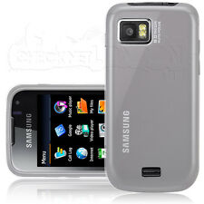 White Slim Tough Silicone Rubber Case Cover Skin Grip Fits Samsung S8000 Jet
