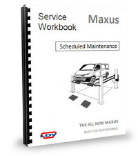 LDV Maxus Van Scheduled Maintenence Workshop Service Manual