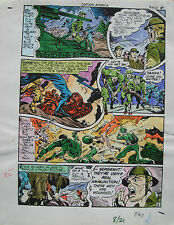 JACK KIRBY Joe Simon CAPTAIN AMERICA #8 pg 21 HAND COLORED ART Theakston 1989