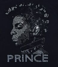 RHINESTONE PRINCE PORTRAIT IRON-ON TRANSFER, TANKTOPS, 9X12 INCHES