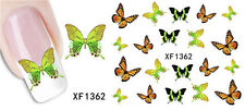 XF1362 Water Transfer Decals Sticker Nail Art Manicure Tips 3D Flower Decor 05