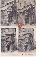 Lot 4 cartes postales anciennes PERIGUEUX maison renaissance