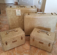Samsonite Vintage Luggage Set Streamlite Used on show Magic City Prop TV w/COA