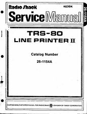 TRS-80 Line Printer II Service Manual  26-1154A * PDF * CDROM